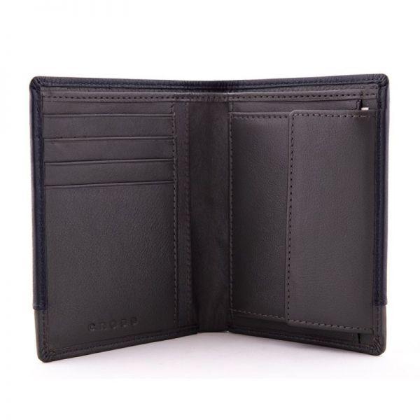 Мъжки портфейл Cross Vachetta Spine, с монетник и отделение  за документи , Brandy