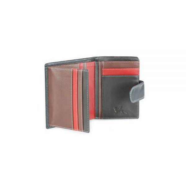 Дамски портфейл Mano Multicolorus, кафяв/тъмнокафяв
