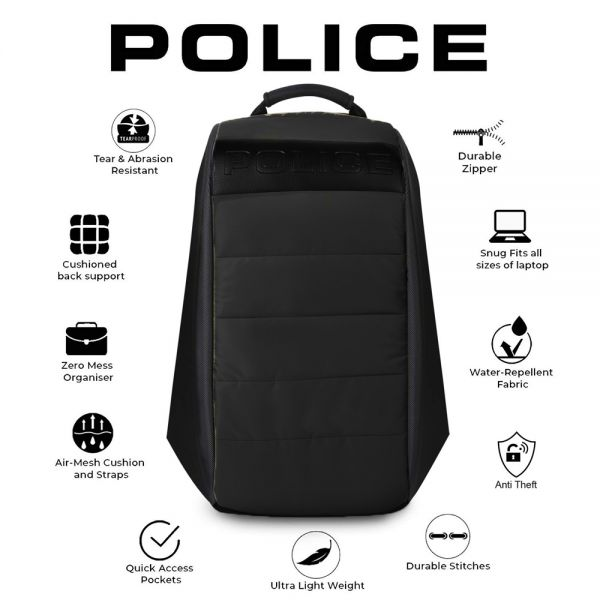 Раница против кражба Police Bore, Black