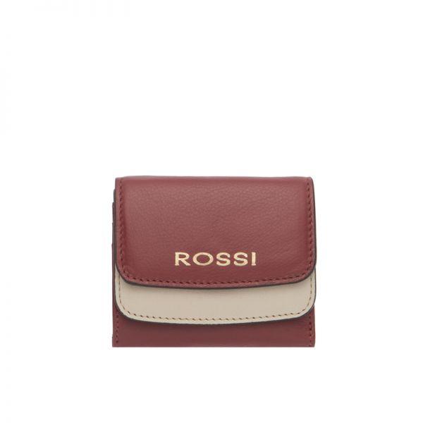 Дамско портмоне ROSSI, във винено червено