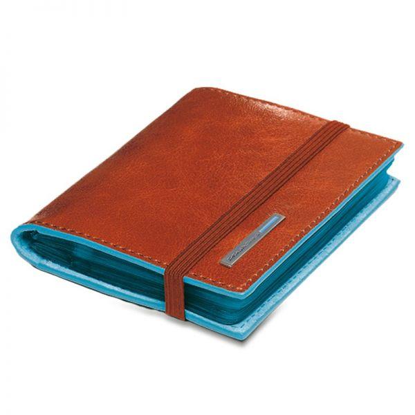 Портфейл Piquadro с 20 отделения за кредитни карти