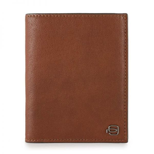 Blue Square Луксозен мъжки портфейл, вертикален в кафяв цвят