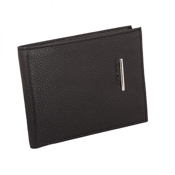 Хоризонтален мъжки портфейл Piquadro с отделение за кредитни карти