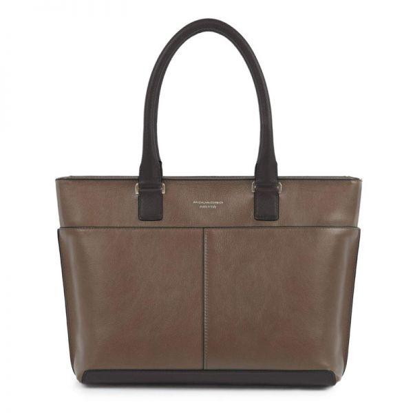 Хоризонтална дамска чанта Piquadro с отделение за iPad/iPad Air/iPad mini