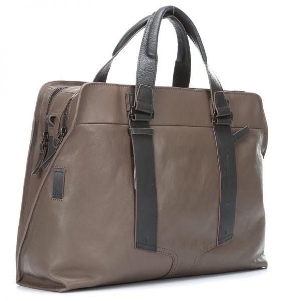 Тънка чанта за документи Piquadro с разширение и мобилен органайзер за iPad®Air/Air2