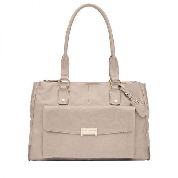Елегантна дамска чанта Piquadro с три прегради