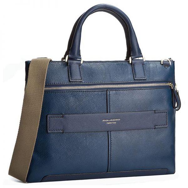 Бизнес чанта за лаптоп Piquadro, тъмносин