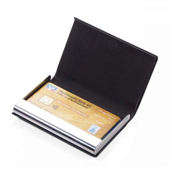 Калъф за кредитни карти Troika-MARBLE SAFE, черен