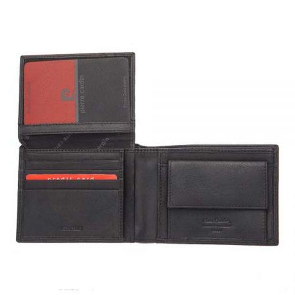 Мъжки портфейл Pierre Cardin, с червени линии