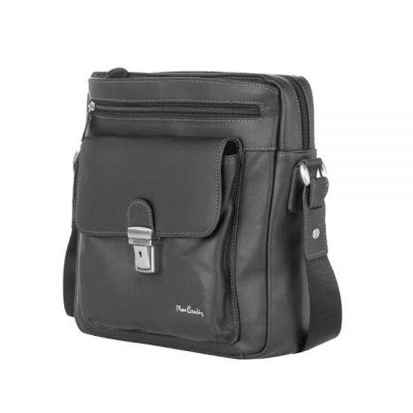 Мъжка спортна чанта Pierre Cardin, от естествена кожа