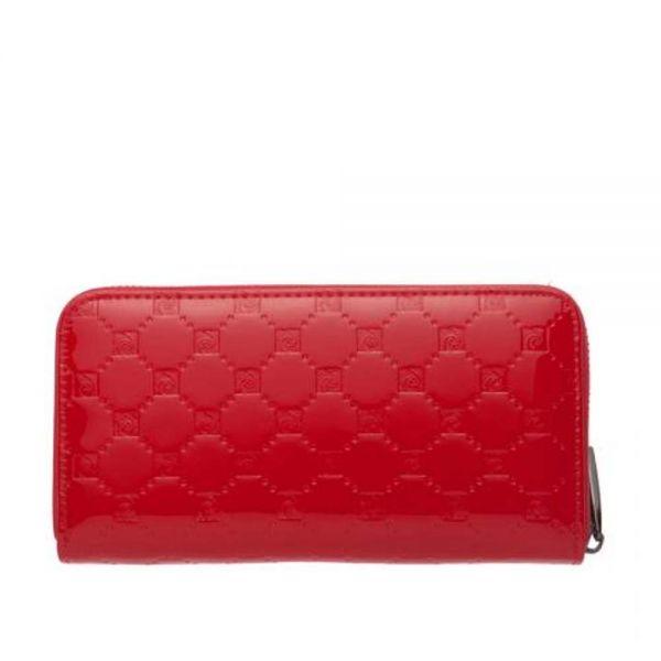 Дамски портфейл Pierre Cardin, червено с щампа