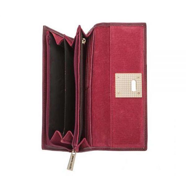Дамски портфейл Pierre Cardin, сив с механизъм