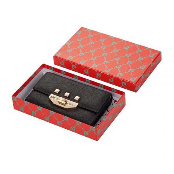 Дамскo портмоне Pierre Cardin, със златни нюанси с механизъм