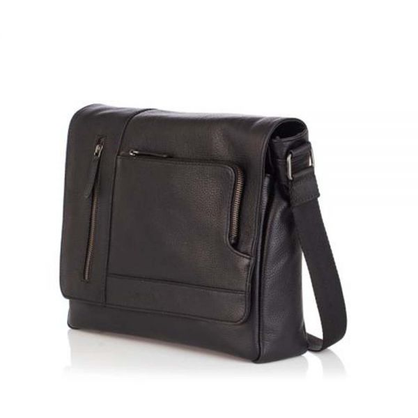 Мъжка стилна чанта ANDY, Silver Flame - кафява