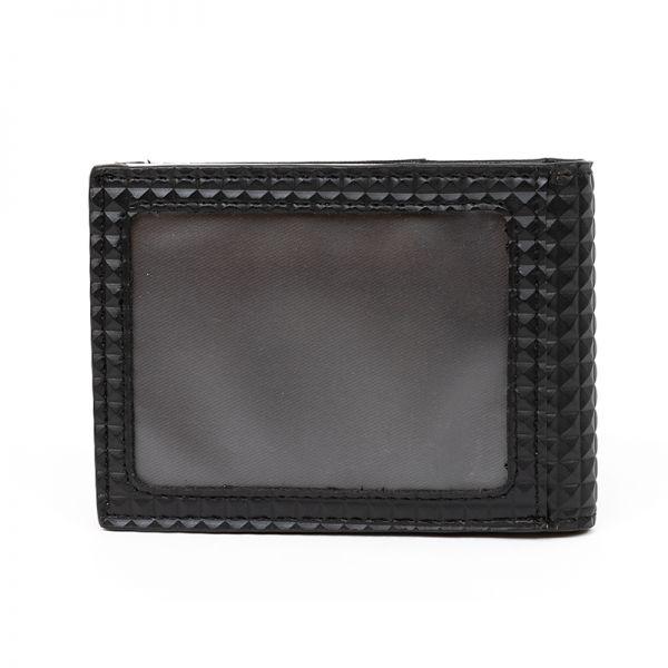 Мъжки портфейл с цип, мини Pyramid, Black