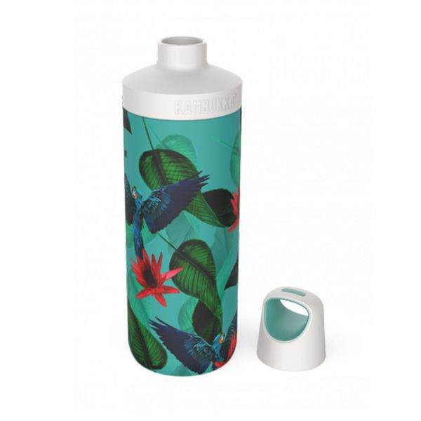 утилка за вода двустенна Kambukka Reno Insulated с капак 2 в 1 Twist, 500 мл, райски цветя