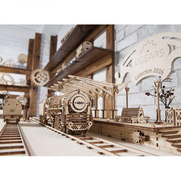 Механичен 3D пъзел - Перон за локомотив