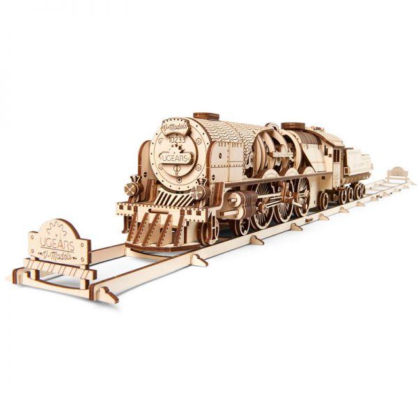 Механичен 3D пъзел - Влак с тендер – V-express