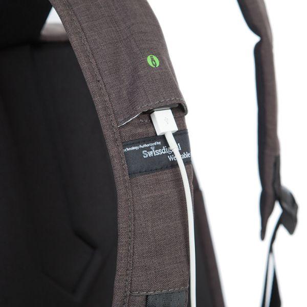 Раница Swissdigital, черно с тъмносиво