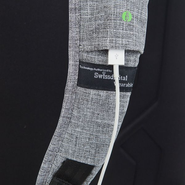 Раница Swissdigital, сиво и черно