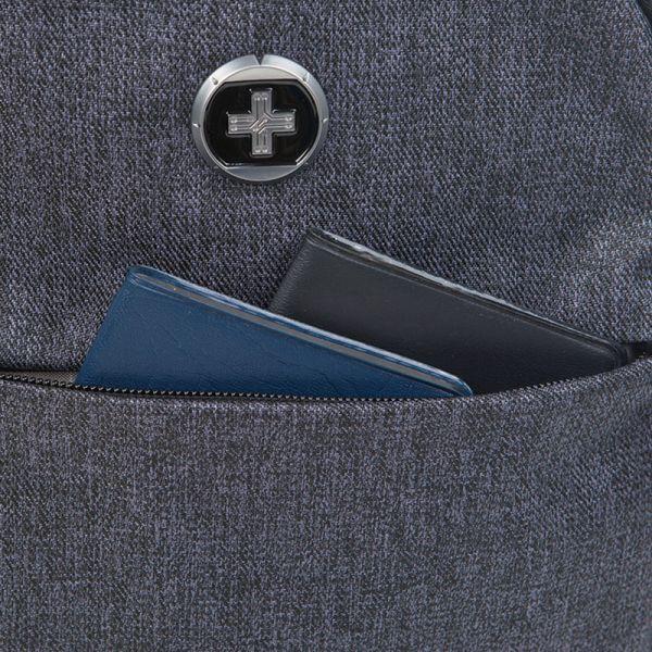 Раница Swissdigital, тъвносива
