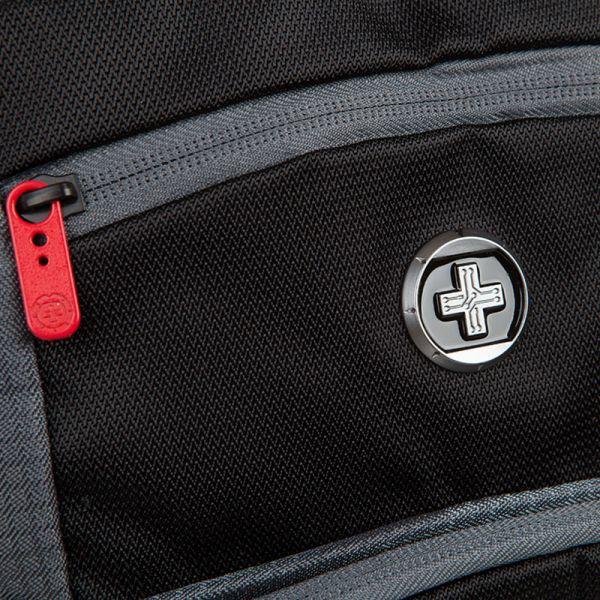 Раница Swissdigital, сиво с черно