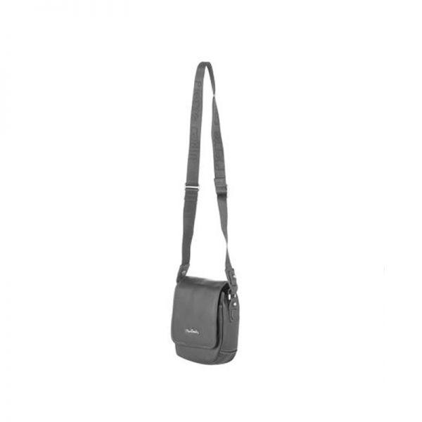 Черна мъжки чанта Pierre Cardin от естествена кожа