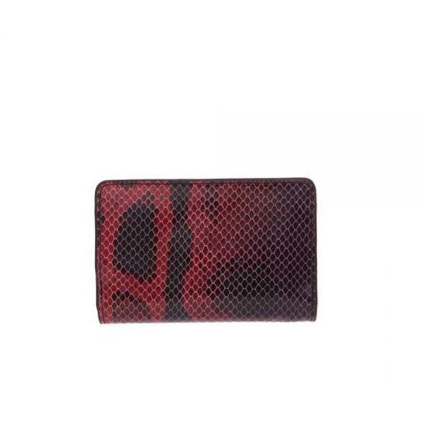 Дамско портмоне ROSSI, Red & Black Python