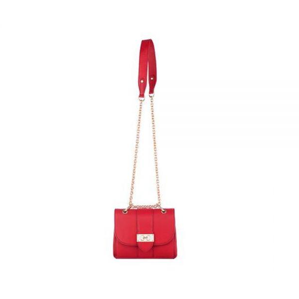 Дамска чанта ROSSI, винено червена