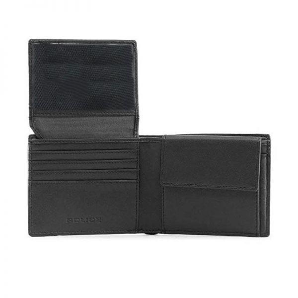 Мъжки портфейл Police Pyramid, с монетник и допълнително отделение за карти