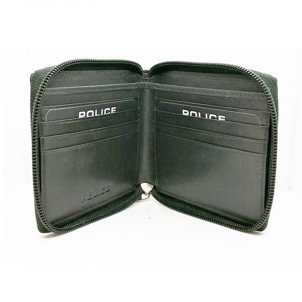 Мъжки портфейл с цип, мини Police Pyramid, Black