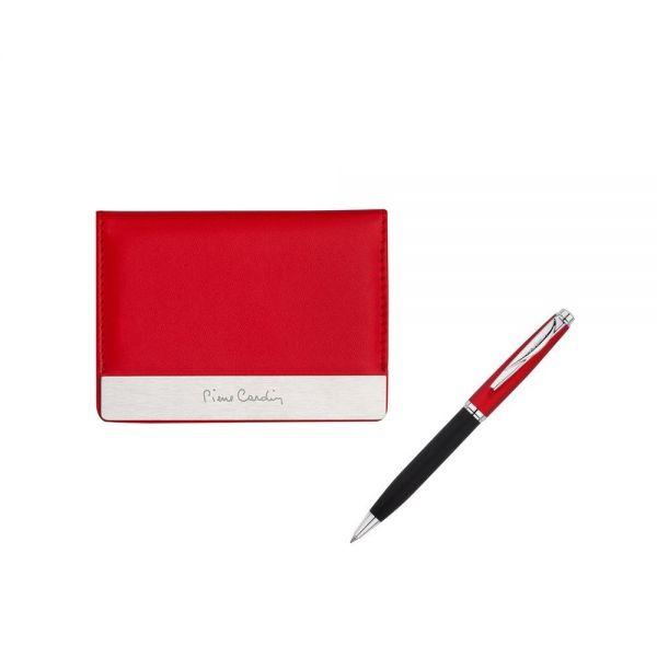 Дамски сет Pierre Cardin, визитник и химикалка