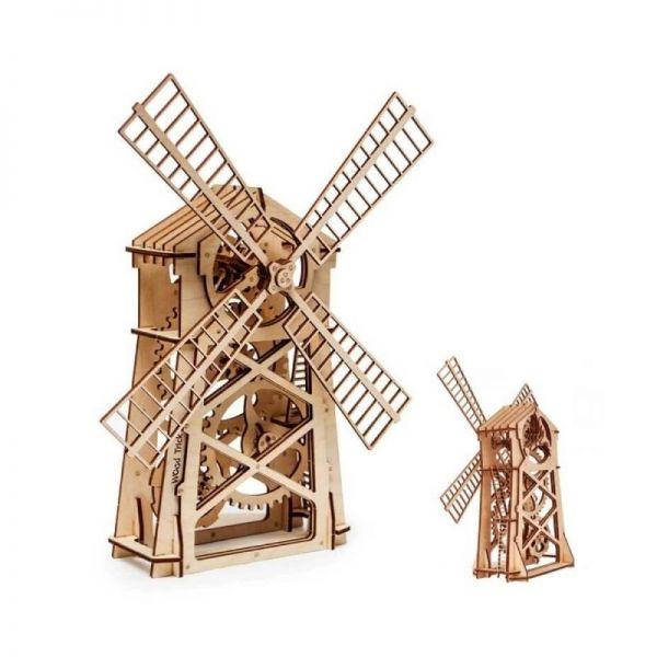 Механичен 3D пъзел Wood Trick - Вятърна мелница, 76 части