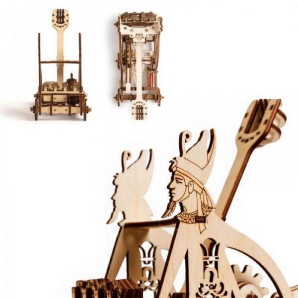 Механичен 3D пъзел Wood Trick - Катапулт, 106 части