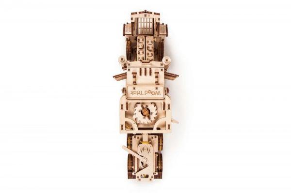 Механичен 3D пъзел Wood Trick - Голям камион, 485 части
