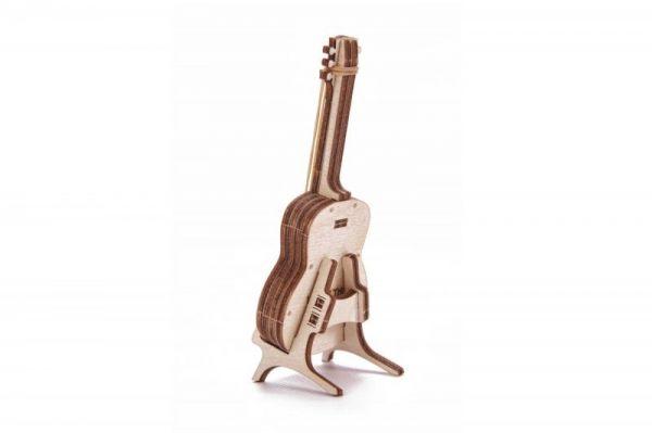 Механичен 3D пъзел Wood Trick - Китара, 13 части