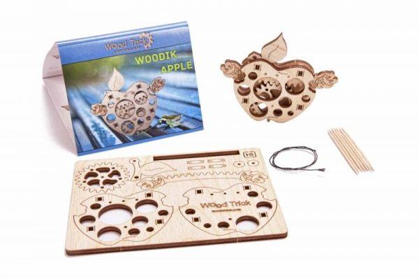 Механичен 3D пъзел Wood Trick - Ябълка, 12 части