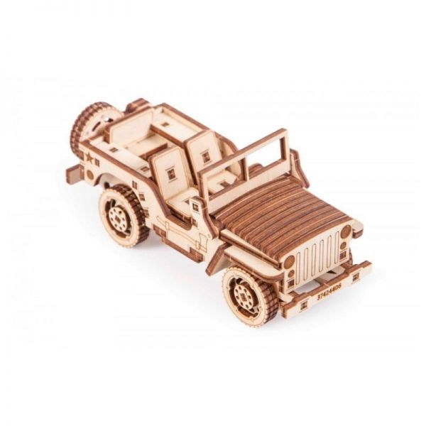 Механичен 3D пъзел Wood Trick - Джип, 72 части