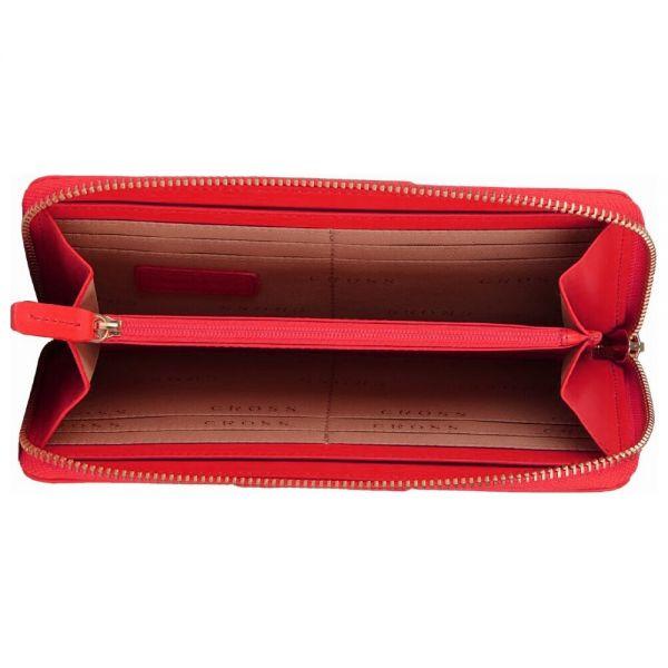 Дамски портфейл Cross, колекция Origami, Red с 18 отделения за карти