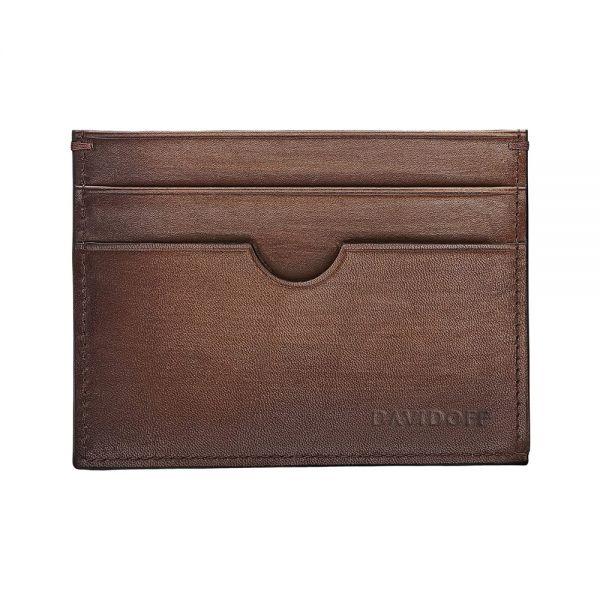 Калъф за кредитни карти DAVIDOFF Venice, 4 отделения, кафяв