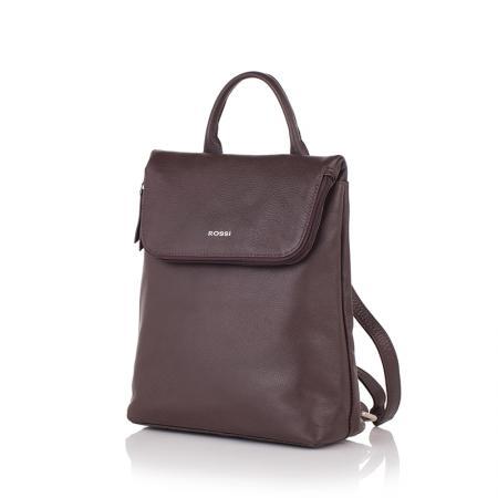 Дамска чанта Rossi - тип раница, тъмно кафява