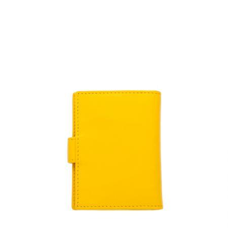 Дамски визитник Rossi - с детелина, жълт