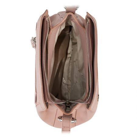 Дамска чанта Rossi - бледо розова