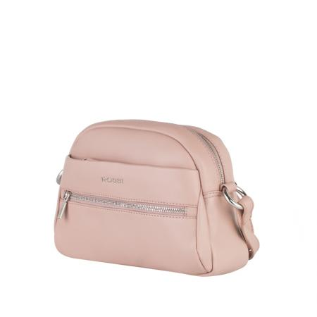 Дамска чанта Rossi, малка, бледо розова