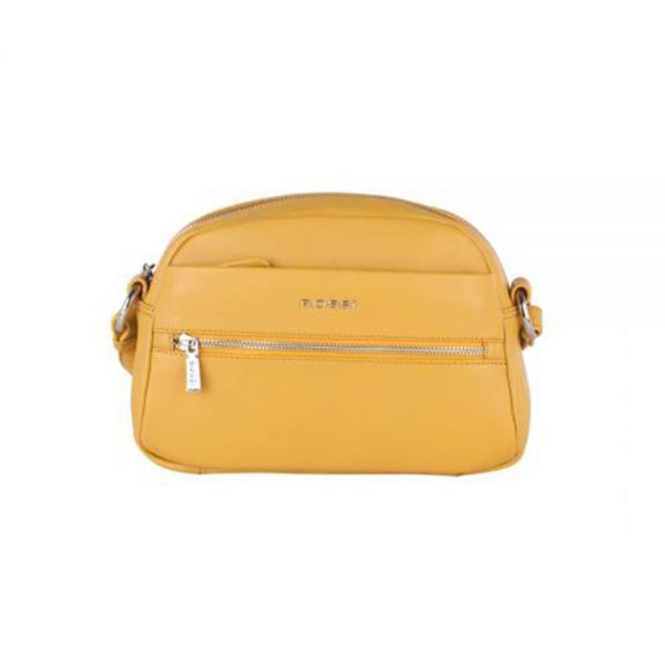 Дамска чанта Rossi, малка, жълта