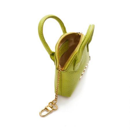Портмоне ключодържател Rossi - кожено, зелено