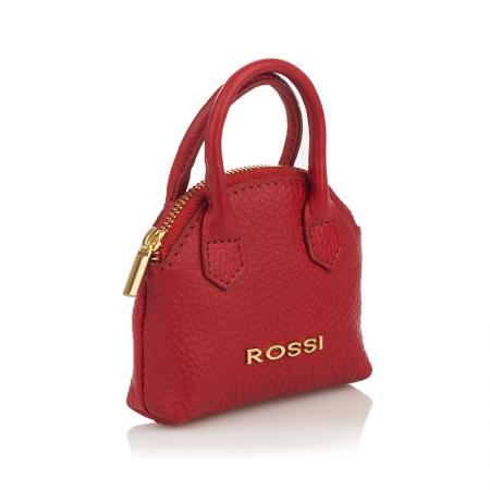 Портмоне/ключодържател Rossi - кожено, червено