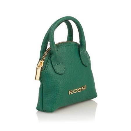 Портмоне ключодържател Rossi - кожено, тъмнозелено