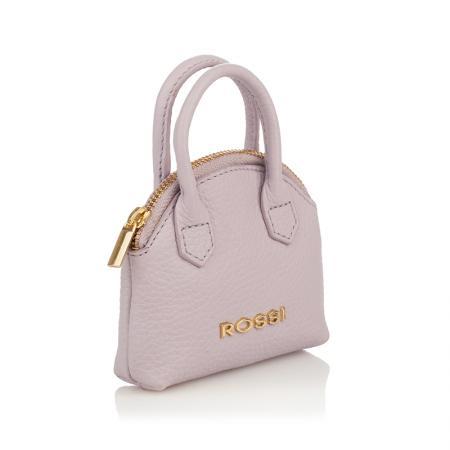 Портмоне ключодържател Rossi - кожено, светло розово