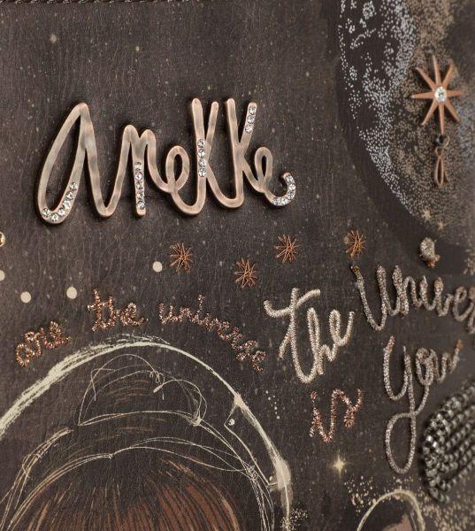 Дамска чанта Anekke - Universe, тип мешка, кафява